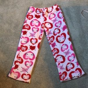 Hello kitty plush pajama bottoms, lounge pants